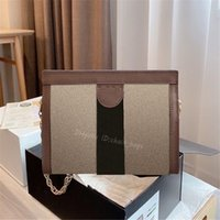 Famosa diseñadora 2021 Ophidia Crossbody Bolsos Bolso Paquetes de cadena de bolsas Classic Cowhide Letra Dot Delicate Hardware Clip Package Lady Fashion Bags Bags Bags