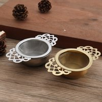 Empress Strainers Drip Bowls Mesh Infuser Stainless Steel Loose Leaf Tea Filter With Elegant Double Winged Handles DDA6026