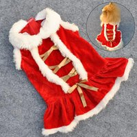 Winter Christmas Dogs Clothes Hoodies Puppy Cat Makeup Pet Santa Claus Coat Red Skirt Dress Supplies Dog Apparel