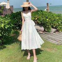 2021 Boho Spaghetti Cocktail Dresses Sexy Backless Tea Length Bow Short Skirt Gown Sleeveless Homecoming Party Gowns