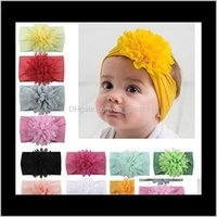 Jewelry Drop Delivery 2021 13 Styles Baby Girls Headbands Cute Chiffon Flowers Hairband Children Head Wrap Kids Toddler Born Infant Hair Acce