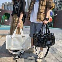 Transparent travel bag women waterproof light large capacity men hand b L shoulder swimming fitness outdoor essential