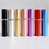 5ml Portable Mini Aluminum Refillable Perfume Bottle With Spray Empty Makeup Containers With Atomizer For Traveler Sea Shipping RRA4433