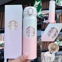 2021 Mode 500ml Starbucks Tasse Wasserflasche Vakuum Edelstahl Tassen Kessel Thermo Cups Geschenk Produkt