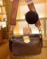 """상위 3 피스 세트 높은 Qulity 디자이너 가방 Womens 핸드백 멀티 포켓 액세서리 크로스 바디 패션 핸드백 어깨 여성 지갑 """"Louis ... 가방""""Vitton """""""