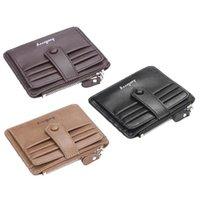 Card Holders Fashion Men Slim PU Leather Wallet Zipper Coin Purse Holder Business Change Pocket Case
