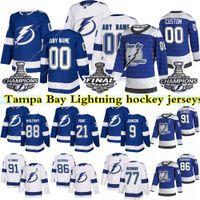 탬파 베이 번개 Hockey Jersey 91 Steven Stamkos 86 Nikita Kucherov 77 Victor Hedman 88 Andrei Vasilevskiy 21 Brayden Point Jerseys