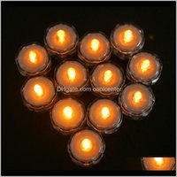 Candles Décor & Garden Drop Delivery 2021 12Pcs Waterproof Led Floral Light Super Bright Submersible Lights Battery Operated Lighting For Par