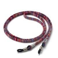 70cm Retro Eyeglass Sunglasses Cotton Neck String Cord Retainer Strap Eyewear Lanyard Holder With Sile Loop Glasses Chain H jllgpB