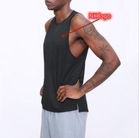 Summer new T -shirts quick-drying men's sports Tank Tops outdoor running short sleeve basketball training hurdle round neck sleeveless fitness vest tees