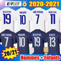 2020  프랑스 축구 유니폼 유럽 MBAPPE GRIEZMANN POGBA Jersey 2021 KANTE Football Shirts maillot de foot National Team men + kids Women Enfants kit