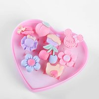 Cluster Rings 10pcs   Lot Of Love Kids Cute Sweet Ring Design Candy Plant Fashion Jewelry Accessories Girl Children Gift Finger