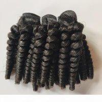 Fummi Bouncy Curls Weft Фестиваль Фестиваль Волос Уток Необработанные Бразильские Девы Человеческие Волосы Weaves Индийский Монгольский 3 Совокупные Афро Странные Монгольские Волосы
