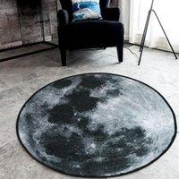 Carpets Nordic Round Carpet Earth Blue Fashion For Living Room Anti-slip Rug Computer Chair Floor Mat Home Decor Kids