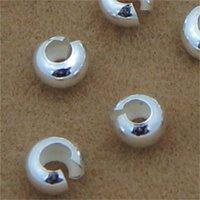 10 قطعة / الوحدة 925 الفضة اللون جولة يغطي تجعيد نهاية الخرز ديا 3 4 5 6 ملليمتر سدادة فاصل الخرز ل diy مجوهرات صنع النتائج 1540 Q2