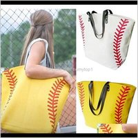 Outdoor Bags Canvas Printed Basketball Baseball Football Tote Sports Shoulder Bag With Hasps Closure Softball Handbag 15 Colors Zza672 I0Mm7
