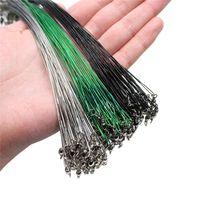 Línea de pesca anti bocado de acero Líder de alambre con accesorios giratorios Core Core Correa 15cm-50cm trenza