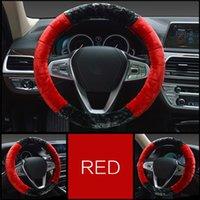 Capa de volante de carro tampa superior de borracha de pelúcia interior anel interno inverno quente antiderrapante amortecedor de volante volante Acessórios para carro