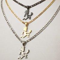 (صبي نمط) الفولاذ المقاوم للصدأ قلادة jugallo hatchetman الأحقاد رجل سحر مصغرة صغيرة 1 '' طويل القلق قلادة مجوهرات icp الفضة / الذهب / الأسود 4 ملليمتر 24 بوصة سلسلة NK
