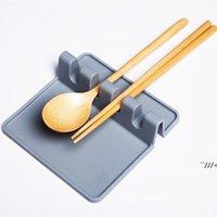 Silicona utensilio cuchara resto soporte de sopa goteo pad herramientas cocina estufa organizador utensilios estantería almacenamiento accesorio AHE6278