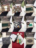 Top Quality Italie Men hommes Portefeuilles Femmes Lettre Portefeuille Luxurys Designers Titulaire de carte Porte-monnaie Porte-monnaie Porte-monnaie avec boîte-cadeau