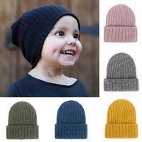 Baby Hat Kids Newborn Knitted Cap Crochet Solid Children Beanies Boys Girls Hats Headwear Toddler Kids Caps Accessories Clothes