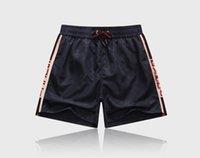 2021 الرجال السراويل الصيفية الأزياء 3 لون الطباعة الرباط فضفاض السباحة شاطئ السراويل الرياضية M-3XL