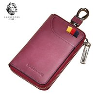 Old head 2019 new atmospheric leather simple multi-function waist hanging women's car key ring bag