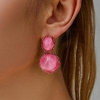 Stud Vintage Earrings Irregular Resin For Women Earing Jewelry White Pink Blue Earings Geometric Earring CF1217
