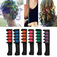 Tempory Hair Pro Mini Craycs Crayons 6 Couleurs Pour Multicolore Color Color Soins Entretien Outils Coiffeurs Brosses à cheveux