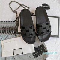 가죽 샌들 여성 럭셔리 데스러스 슬리퍼 패션 얇은 플립 플롭 브랜드 구두 라디 신발 샌들 오리발