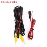 Car Rear View Cameras& Parking Sensors 6m Video Power Cable For Camera Universal RCA 6 Meter Wire Connecting Reverse With AUTO Multimedia Mo