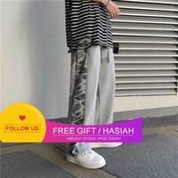 Cashew 2021 Summer Spring and Flower Pants Men's Fashion Brand Loose Student Straight Tube Sports Drawstring Casual Pants