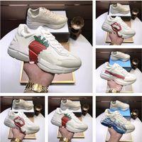 أعلى الفاخرة الأحذية عارضة مصمم الكلاسيكية أحذية رياضية جلد التطريز عاشق الرجال والنساء أحذية رباط الحذاء الرياضية