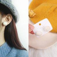 Stud Beanie Hair Ball Earrings Personality Sweet Lady Autumn Winter Furry Simple Korean Design Jewelry For Women