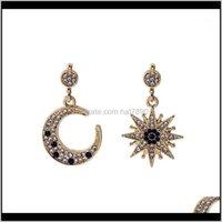Dangle & Chandelier Jewelryvintage Asymmetric Baroque Blue Stud Earrings Korean Octagon Star Moon Sun Full Earrings1 Drop Delivery 2021 Fb40