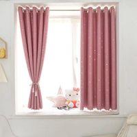 Cortinas cortinas apagón dormitorio ventana cortinas estrella tela de cocina sala de estar