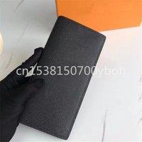 محافظ أعلى جودة كلاسيكي الأعمال الطويلة محفظة تصميم الرجال brazza حامل قابلة للطي الأزياء عملة محفظة مع مربع
