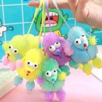 20 Modelle Cartoon Light Pinch Ball Entlüftung Kinderspielzeug Aufblasbare Flash Elastische Wolle GYQQQ