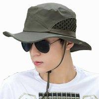 Boonie Bucket Hat Cap Fishing Hunting Safari Summer Men Sun Fishermans And Women Outdoor Caps Straw Wide Brim Hats