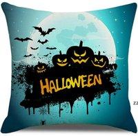 2021 Halloween Linen Pillow Case Border Border Amazon Fashion Divano Cuscino Copriscustio modello personalizzato Cartoon Pumpkin Head Pillowcases HWE8648