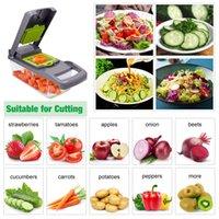 Coupe de légumes Slicer multifonctionnel de la pomme de terre de pommes de terre de la pomme de terre de carotte Cuisine Accessoires de cuisine Panier Trancheur de légumes