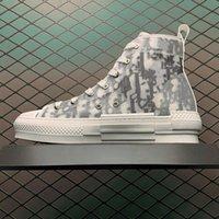 Klassische Segeltuchschuhe B23 Männer Sneaker 2021 Frauen Lässige Mode Leder Schnüre Weiße Schuhplatte Qualitätsplattform Luxurys Designer