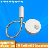 Bordslampor 12V LED-läslampa RV båtbädds vägglampa 3W Varm / cool vit sida Gooseneck