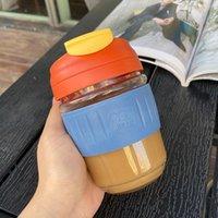 Weingläser Ins für Männer und Frauen Hochtemperaturbeständige Glas mit Strohhalsten Einfache Niedliche Tragbare Kaffeetasse mit großer Kapazität