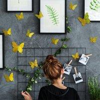 Adesivos de parede 3d Hollow Butterfly Home Decor Decoração Decoração dos desenhos animados para crianças