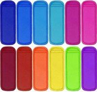 Antifreezing Popsicle Bags Freezer Popsicle Holders Reusable Neoprene Insulation Ice Pop Sleeves Bag for Kids Summer Kitchen Tools LLE6577