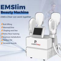 Emslim الجسم التخسيس آلة ضئيلة EMS 4 مقابض 7 Tesla العضلات مشجعا مرحبا EMT الأرداف lfiting