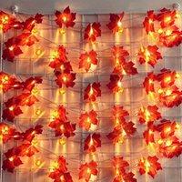 Cordas Decoração do Dia das Bruxas Luz 20 LED Abóbora Luzes de String Bateria Operado Indoor Outdoor Thanksgiving Decor