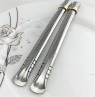 Vente en gros Yerba Mate Bombille Spions de paille réutilisables pailles en acier inoxydable pour gourde / tasse de thé boire HWWE5707